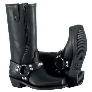 River Road Womens Square Toe Zipper Harness Motorcycle Boots Black 6