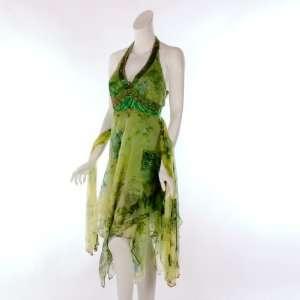 Aspeed Design Womens Beaded Halter Dress