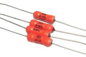Sprague 192P Axial ORANGE DROP Tone Caps .012uf / 80v