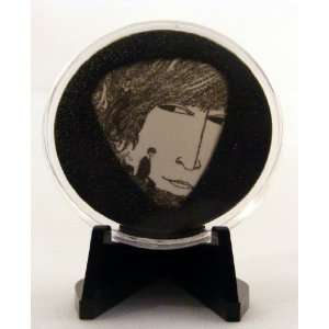 The Beatles John Lennon Revolver Guitar Pick With Made In USA Display