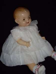 Vintage Antique large 26 compo composition cloth baby doll