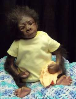 Reborn baby gorilla boy Kiwi by Susan Frey of Babies In The Woods