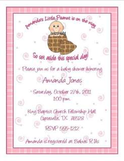 24 Little Peanut Baby Shower Invitations