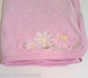 Baby Girls Carters FLOWER Multi Purpose Bumble Bee Blanket THIN