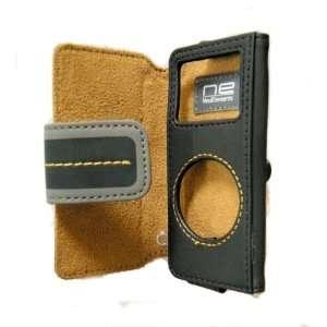 Belkin iPod Nano Leather Folio Case, Black/Yellow