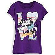 MINNIE MICKEY MOUSE Disney 7 8 10 12 14 SHIRT Top LOVE