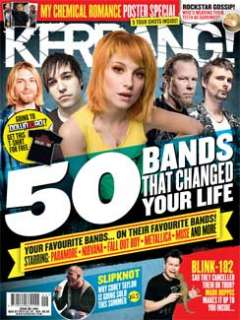 KERRANG 1404 MY CHEMICAL ROMANCE POSTER SPECIAL + PARAMORE SLIPKNOT