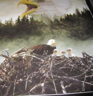 New Baby Eagles Nest Bald Eagle Family Fleece Throw Gift Blanket Warm