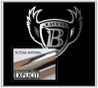 Baltimore NFL Ravens Shield CHROME Laptop Car Truck Vinyl Decal Skin