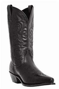 LAREDO 11 WESTERN COWBOY BLACK SNIP TOE BOOTS 10 Medium 5760