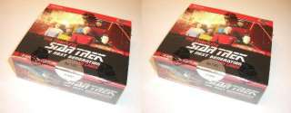 NEW TWO Complete Star Trek TNG Series 2 Sealed Box x2  8 Autos + P1