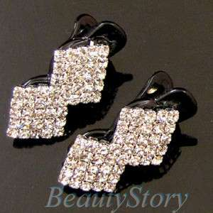 ADDL Item  clear rhinestone crystal Acrylic mini hair