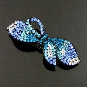 ADDL Item , 1 rhinestone crystal bow tie hair barrette