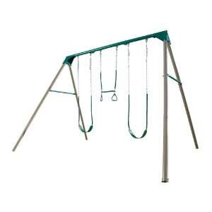 Deluxe Freestanding A Frame Swing Set (Earthtone) Sports & Outdoors