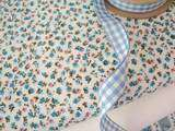 shabby COTTAGE CHIC   TINY   BLUE COTTON FABRIC per m