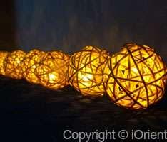 3M RATTAN BALL FAIRY LIGHTS/STRING LIGHTS PARTY/PATIO