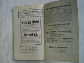 1908 ANTIQUE GERMAN ENGINEERING TECHNICAL BOOK F.RAULS