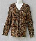 SHOPPING WITH ANTHONY MARK HANKINS LEOPARD TIGER PRINT OPEN FRONT TOP