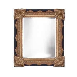 Bevelled Decorative Gold & Black Wall Mirror 36x48