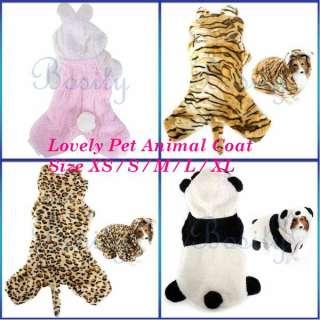 Pet Dog Cute Animal Clothes Coat Hoodie Jumpsuit Party Favor Apparel