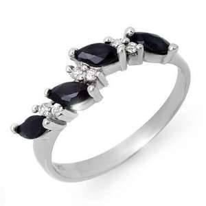 Certified .80ctw Sapphire & Diamond Ring White Gold Valued