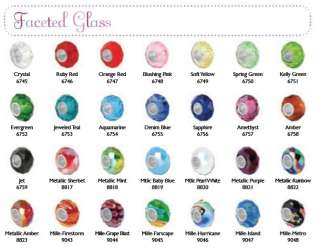 Bauble Lulu Faceted Glass Beads ~fits major brands~