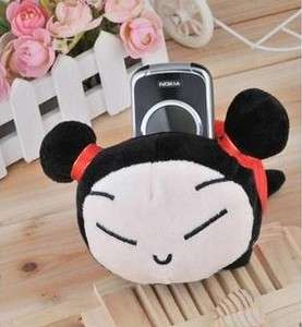 Cute Doll Plush Mobile Phone Protect Block Holder Seat