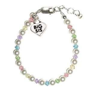 Big Sister freshwater pearls and multi color crystals w/ Big Sis