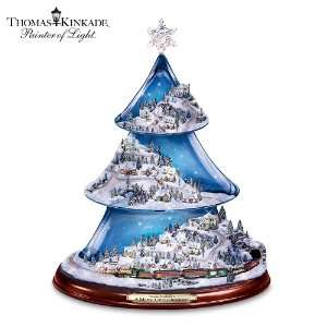Kinkade Animated Musical Tabletop Tree: A Merry Little Christmas Tree
