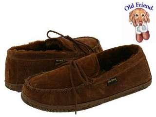 Old Friend Mens Dark Brown Suede Sheepskin Loafer Moccasins 8M