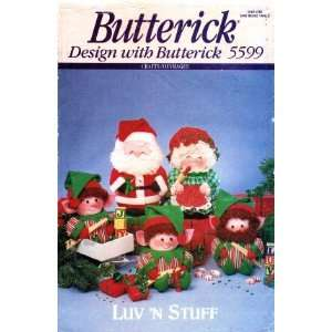 Stuff Christmas Santa Mrs. Claus Elves Dolls Arts, Crafts & Sewing