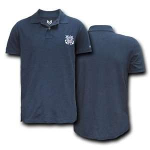 U.S. COAST GUARD NAVY BLUE POLO SHIRT U.S. MILITARY SHIRTS