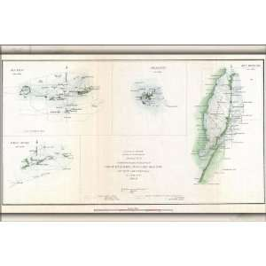 1852 Map of Key West, Biscayne Bay, and Cedar Keys   24