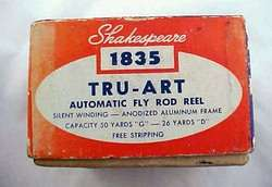SHAKESPEARE AUTOMATIC FLY FISHING REEL #1835 in BOX