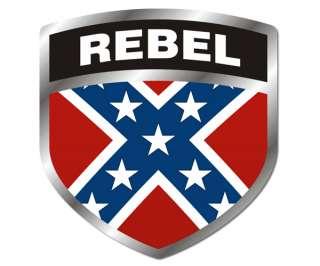 Rebel SHIELD Flag Sticker South Confederate Civil War Vinyl Decal FS