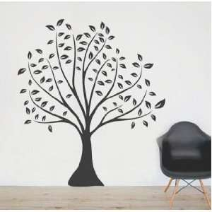 Black Linden Tree   Loft 520 Home Decor Vinyl Mural Art Wall Paper