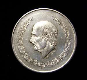 Mexico 1951 5 Pesos Coin .720 Silver BU Miguel Hidalgo