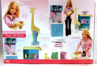 Barbie Play All Day ~ Baby Doctor & Office ~ NIB 027084364491