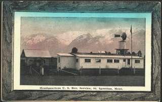 St Ignatius Montana 1915 Headquarters Rec. Service Vintage Postcard