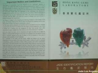 Hong Kong Certified 3 Color Dragon King Fire Jadeite Jade Pendantwith