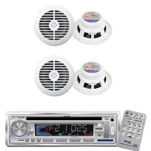Pyle Marine Radio Receiver and Speaker Package   PLCD3MR