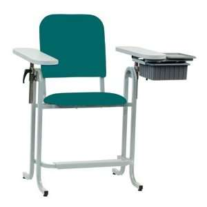 McKesson Blood Draw Chair Upholstered Seat Tall With Drawer Teal