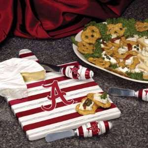 Alabama Crimson Tide Cheese Cutting Board Set Sports