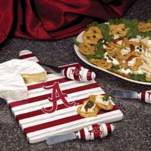 Alabama Crimson Tide Cheese Cutting Board Set Sports
