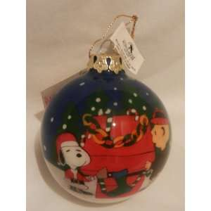 Peanuts Snoopy Charlie Brown Hand Painted Ornament by Kurt