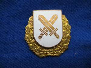 Badge. ESTONIA. Police Operative Rgt Hat badge Obsolete
