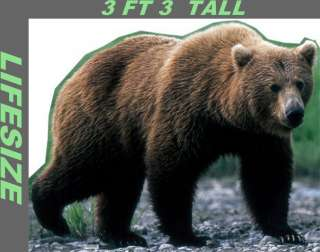 Big Huge Grizzly Bear LiFeSiZe Cardboard Standup Cutout Party Prop