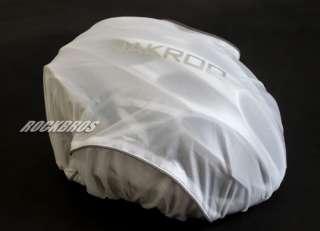 JAKROO Cycling Bike Helmet Rain Cover Hat Cover White