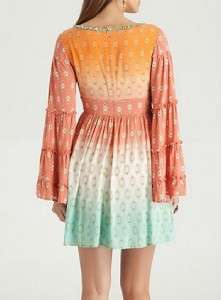 NEW $198 MARCIANO GUESS POLLANY DIP DYE DRESS KIMONO SLEEVE TOP M