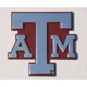 Texas A&M Aggies Premium Chrome Metal Auto Emblem with